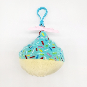 cupcake backpack clip colorful cupcake colorful embroidery plush cupcake dessert plush