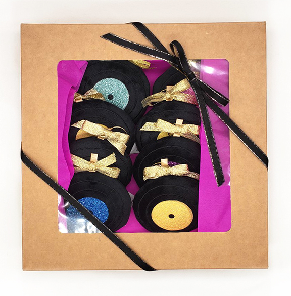 record store day record collector gift DJ gift holiday tree plush ornaments
