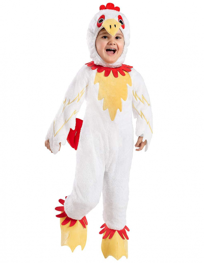 chicken costume plush rubber chicken kids costume